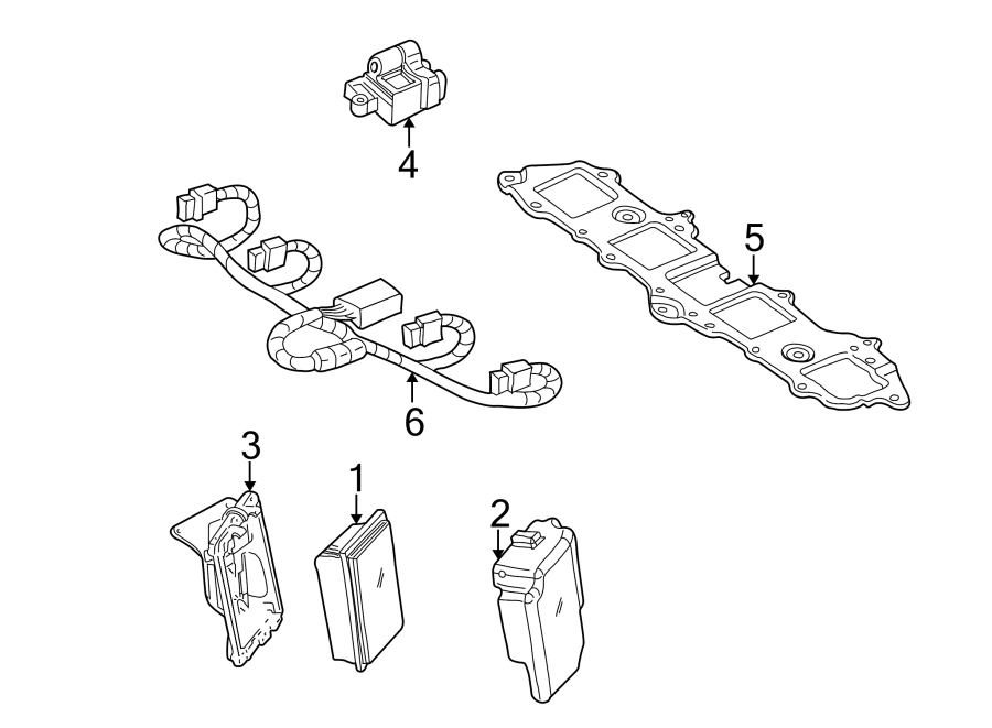 GMC Sierra 1500 Engine Wiring Harness. LITER, Delphi, Wire