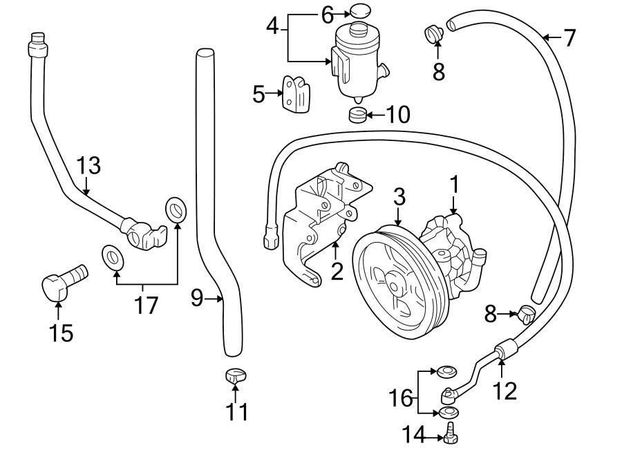 Chevrolet Tracker Power Steering Pump Reservoir Bracket. 1