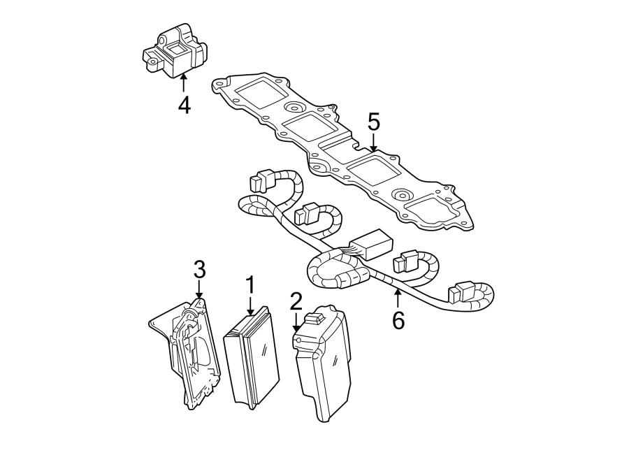 Chevrolet Avalanche 2500 Engine Control Module Bracket