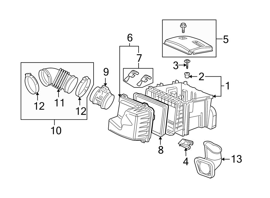 Chevrolet Uplander Engine Air Intake Hose (Rear). 3.4
