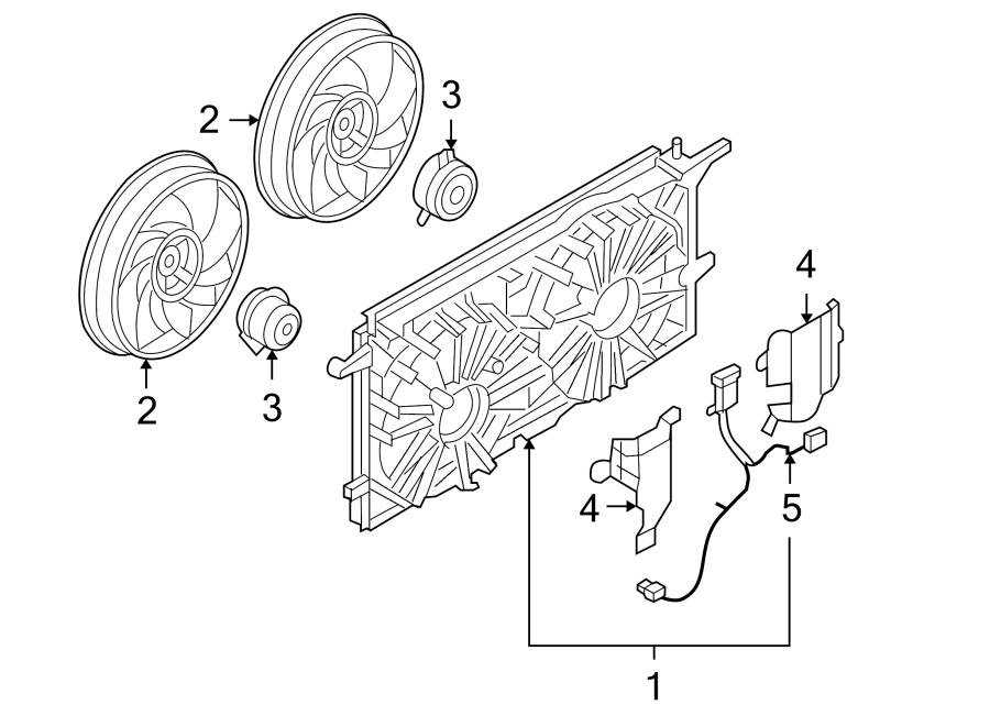 Chevrolet Uplander Engine Cooling Fan Motor. Left