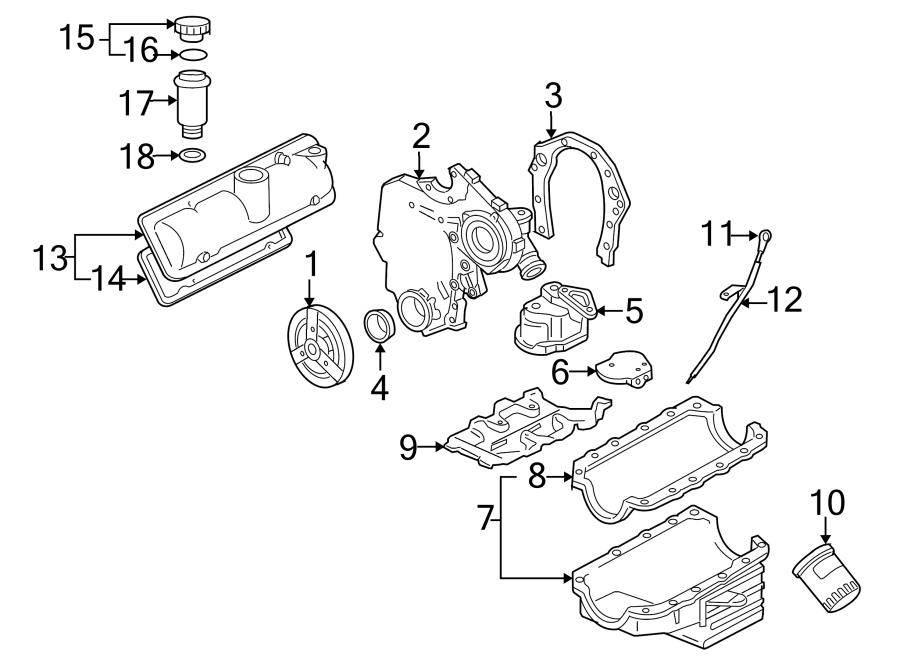 Chevrolet Uplander Engine Oil Filler Cap. LITER, WDOHC