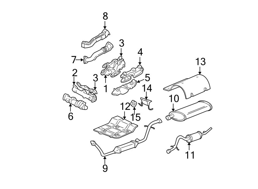 Chevrolet Venture Exhaust Muffler. 3.4L; Standard Model