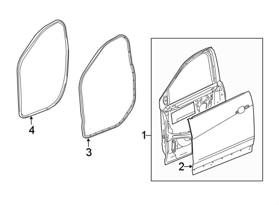 Chevrolet Traverse Door Shell. Front, Right, Motors