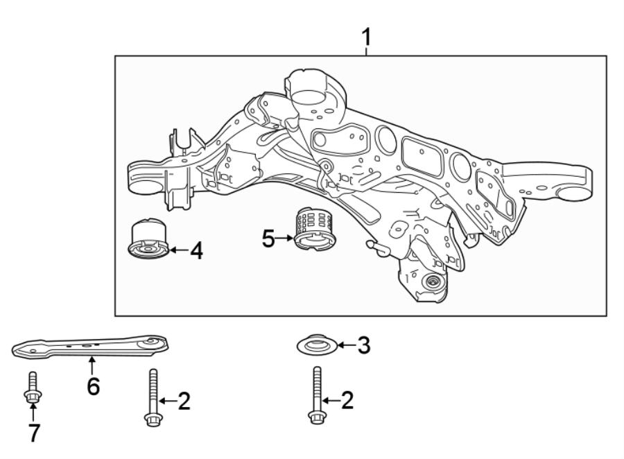 Chevrolet Traverse Suspension Subframe Washer. W/AWD. W/O
