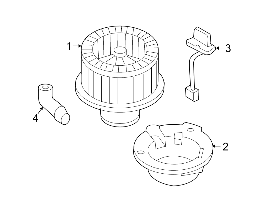 Chevrolet SSR Hvac blower motor control module. Heater