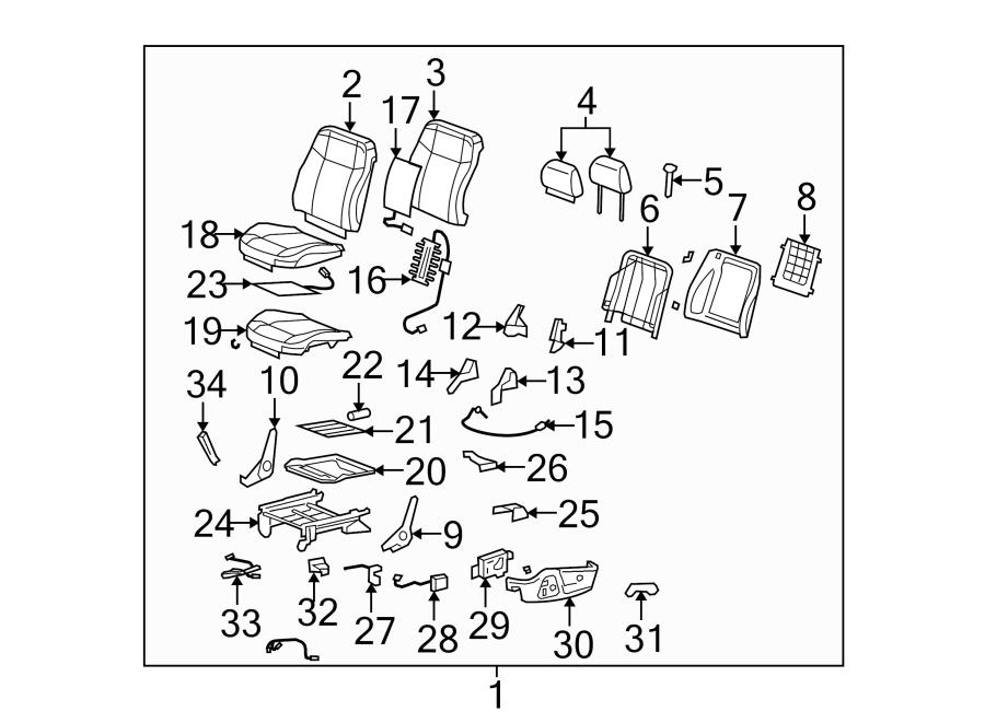 Hummer H3 Headrest. DRIVER SEAT, W/POWER, cashmere. W