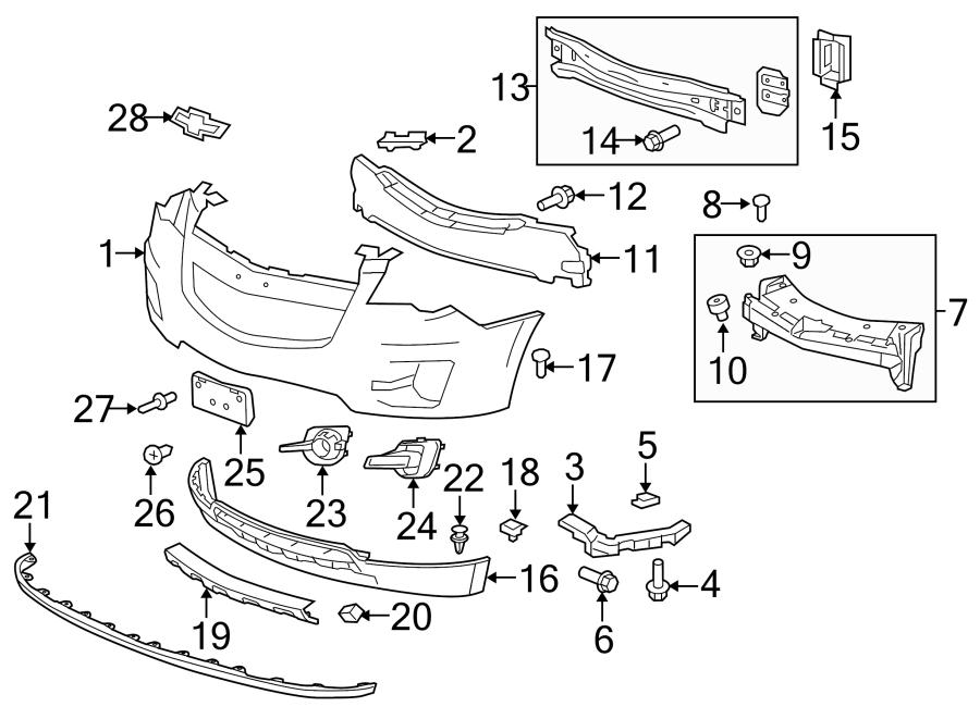 Chevrolet Equinox Radiator Support Air Deflector (Front