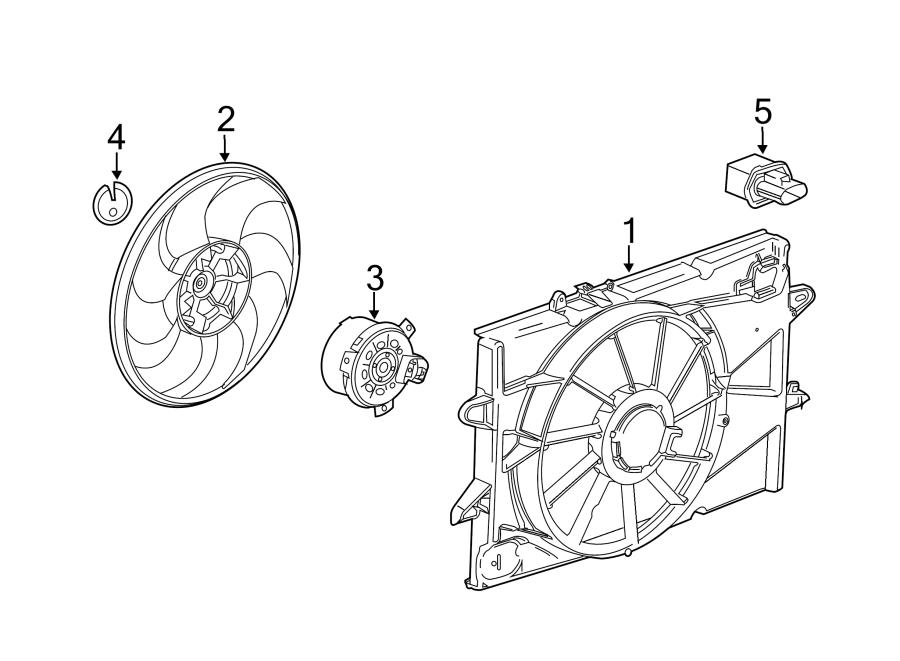 Chevrolet Equinox Engine Cooling Fan Motor. Engine Cooling