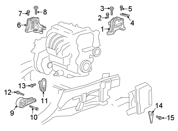 Chevrolet Equinox Automatic Transmission Mount. AWD, LITER