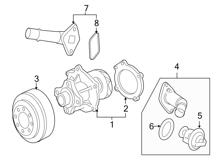 Hummer H3T Engine Coolant Thermostat Kit. 2.8 & 2.9 LITER