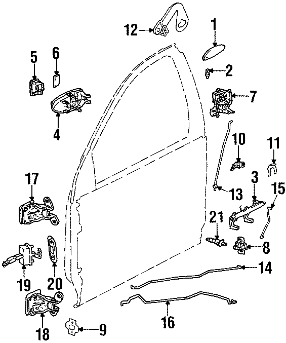 Saturn SC1 Door Check. MOTORS, LOCK, Left, GENERAL, Body