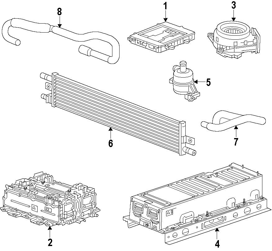 Chevrolet Impala Auxiliary cooler. Auxiliary radiator