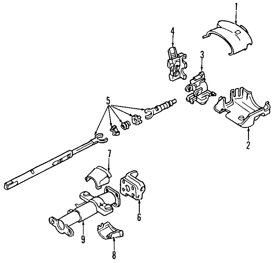 Oldsmobile Bravada Steering column. S-series; auto trans