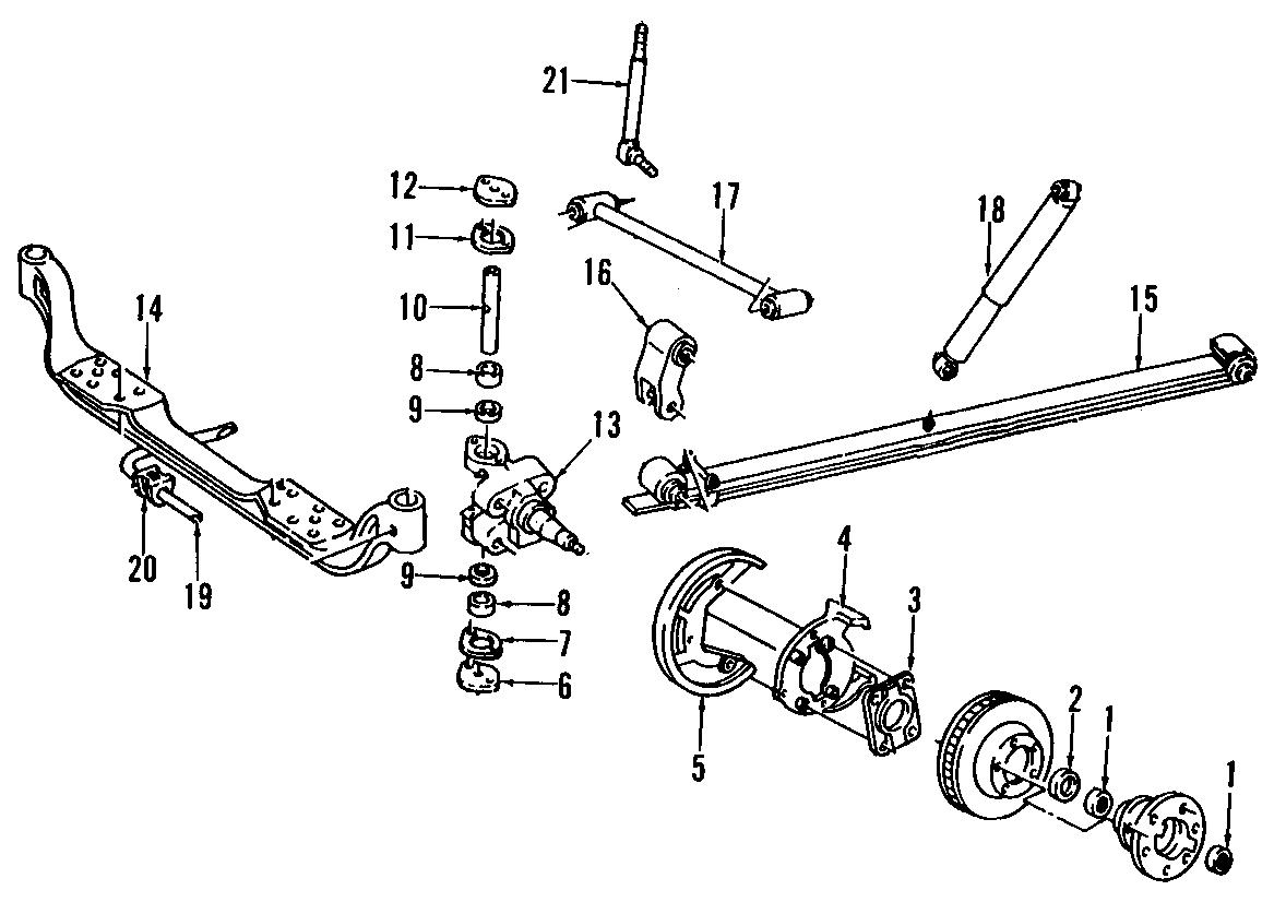 Chevrolet C2500 Suburban Drive Axle Shaft Oil Slinger. 2WD