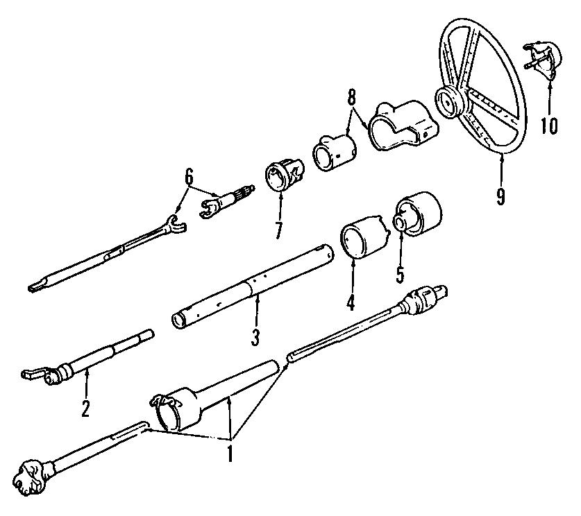 GMC K1500 Suburban Steering Shaft (Upper, Lower
