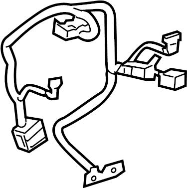 Saturn Outlook Steering Wheel Wiring Harness. 2008-2014