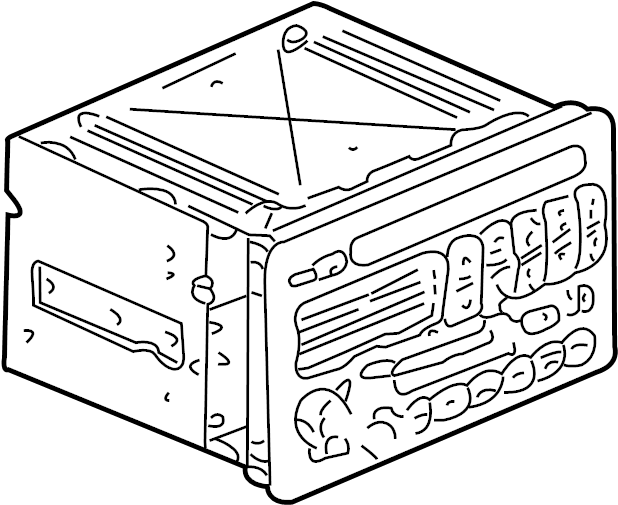 Buick Rendezvous Radio Control Unit. W/multi CD player