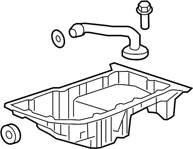 Pontiac G6 Engine Oil Pan. LITER, BEARINGS, LUBRICATION