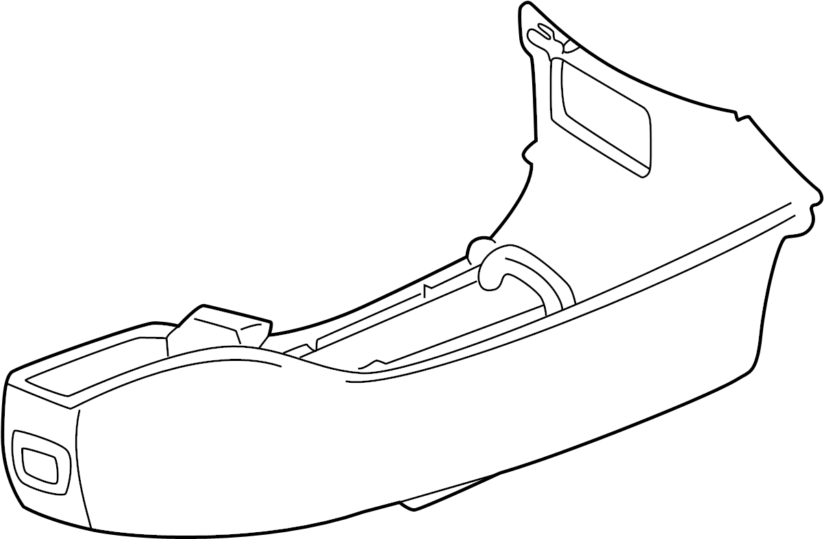 Buick Regal Console Trim Panel. 1997-01, w/o cup holder