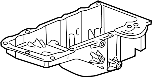 Cadillac CTS Engine Oil Pan. LITER, COMPONENTS, BEARINGS