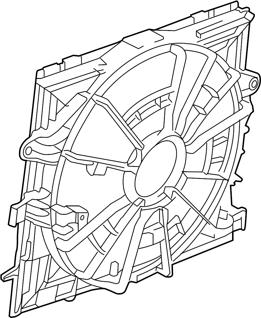 Cadillac ATS Engine Cooling Fan Assembly. Radiator, LITER