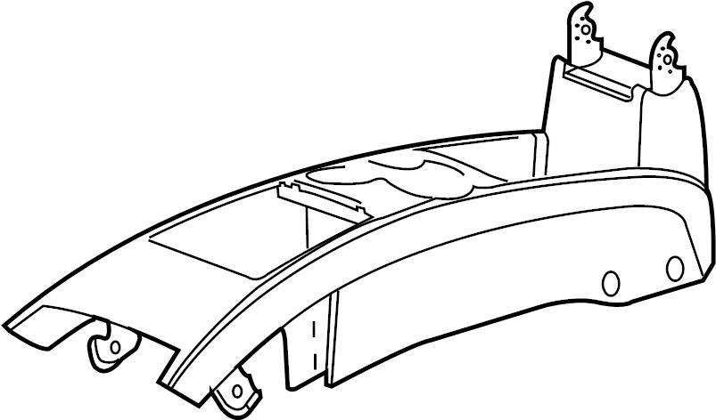 Cadillac CTS Center Console. W/ashtray, gray. MOTORS