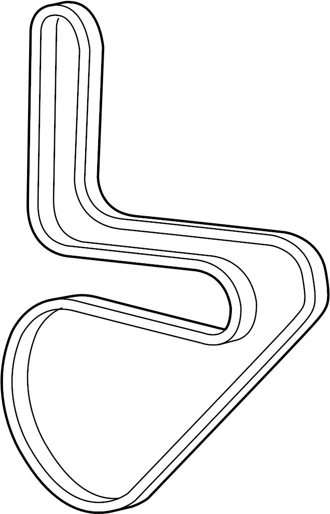 Chevrolet Camaro Accessory Drive Belt. Serpentine Belt