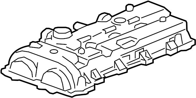 Chevrolet Traverse Engine Valve Cover. LITER, Hybrid