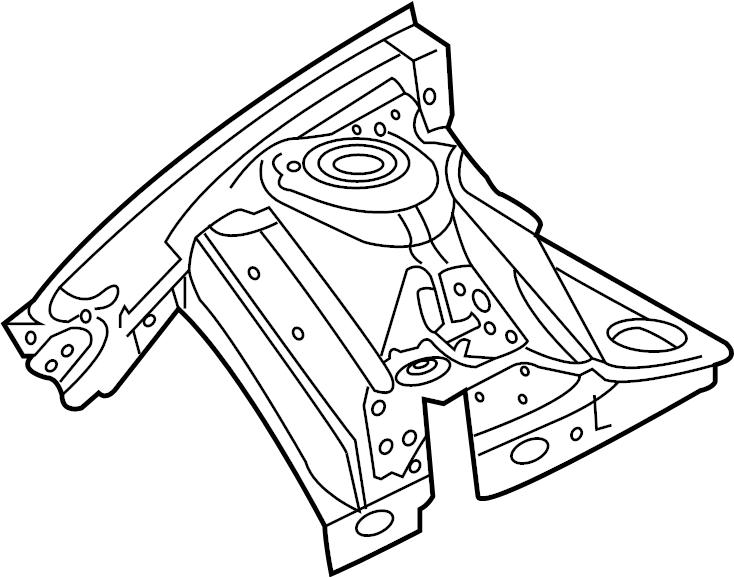 Chevrolet Caprice Panel. Apron. Reinforced. /rail assembly
