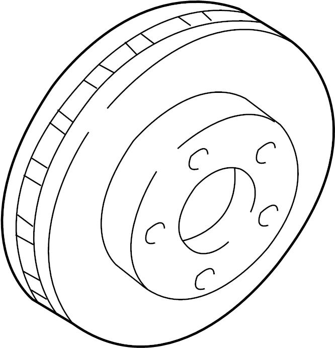 Pontiac Firebird Disc Brake Rotor. Left, Right, Wheel