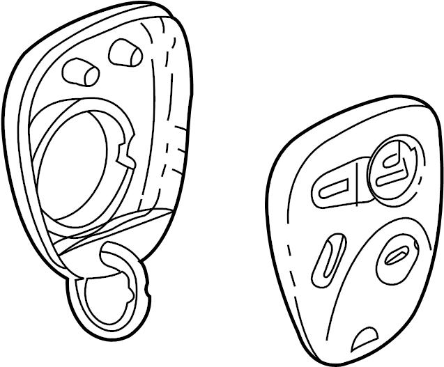 Oldsmobile Alero Keyless Entry Transmitter. ELECTRICAL