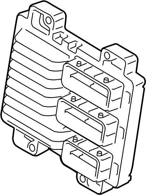 Pontiac G3 Engine Control Module. LITER, Labeled