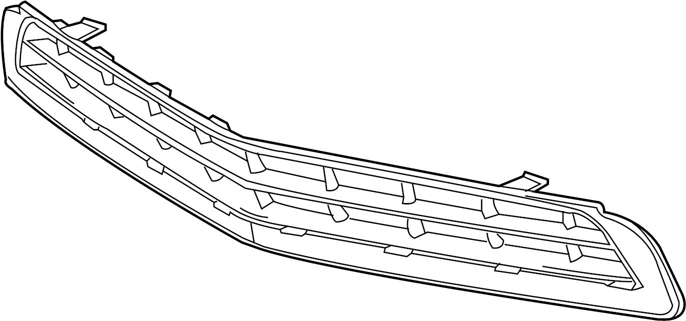 Chevrolet Camaro Grille. 2014-15, LT. W/O ZL1 & RS PKG