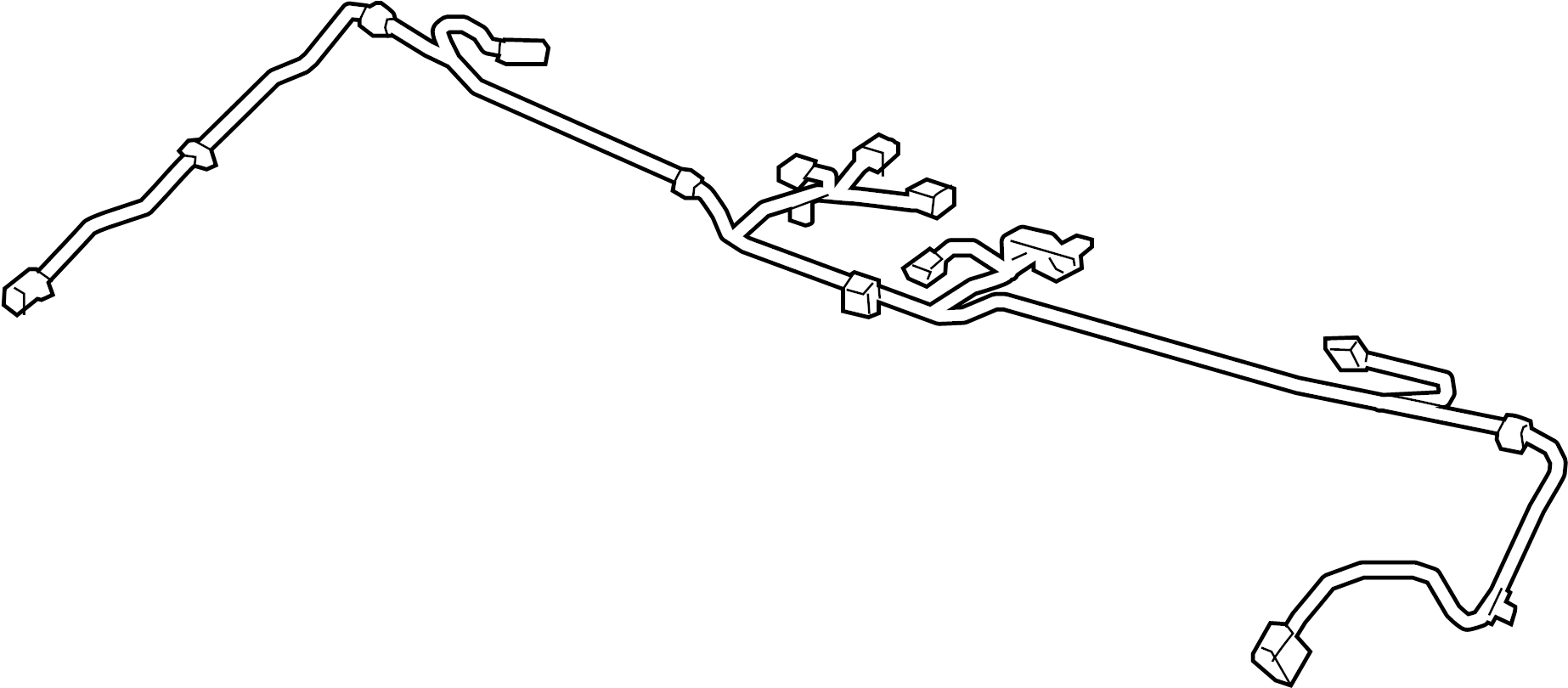Chevrolet Camaro Console Wiring Harness. CONVERTIBLE, 2nd