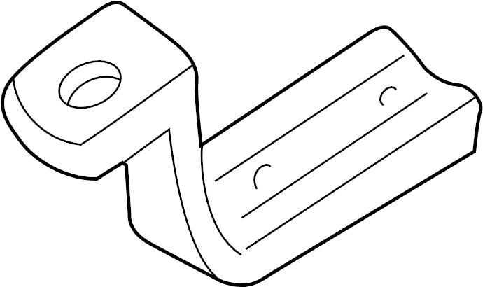 Chevrolet Corvette Suspension Stabilizer Bar Bracket. BASE