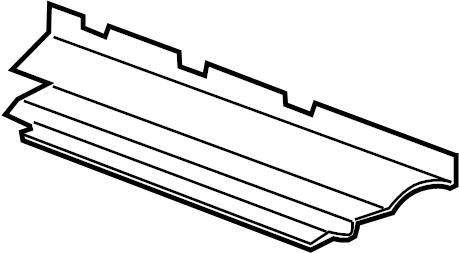 Chevrolet HHR Radiator Support Air Deflector. 2.0 LITER. 2