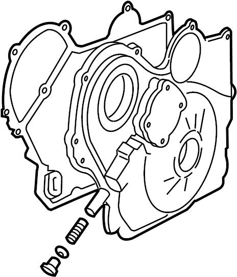 Saturn L100 Engine Timing Cover Gasket. LITER, BEARINGS