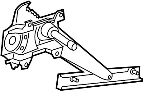 Pontiac Sunfire Window Regulator. Make, Left, Manual
