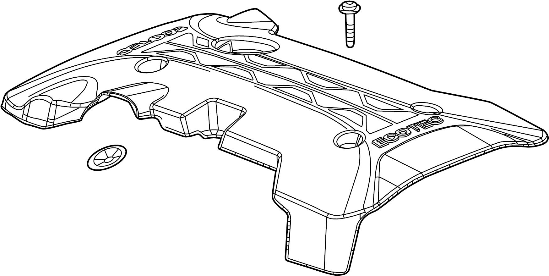 Buick Regal Engine Cover. 2.0 LITER TURBO. 2.0 LITER TURBO