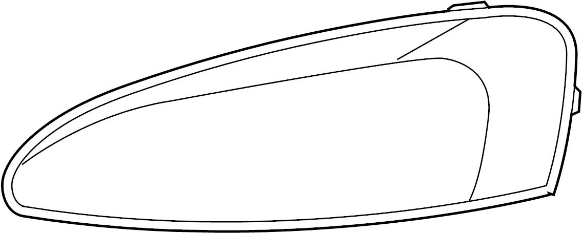 Pontiac Grand Prix Headlight Assembly. Grand Prix; Left. W