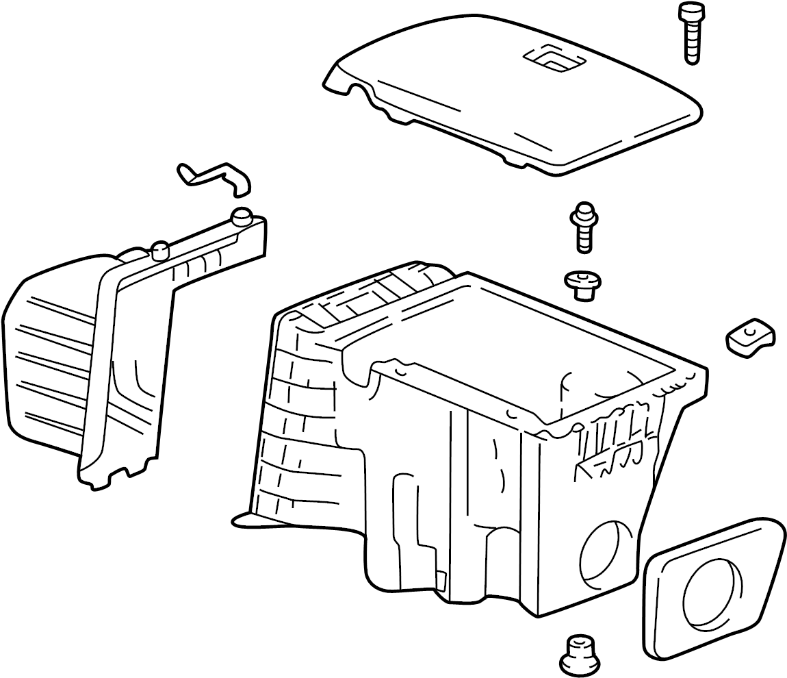 Oldsmobile Silhouette Air Filter and Housing Assembly. 3.4