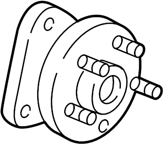 Oldsmobile Silhouette Wheel Bearing and Hub Assembly. ABS