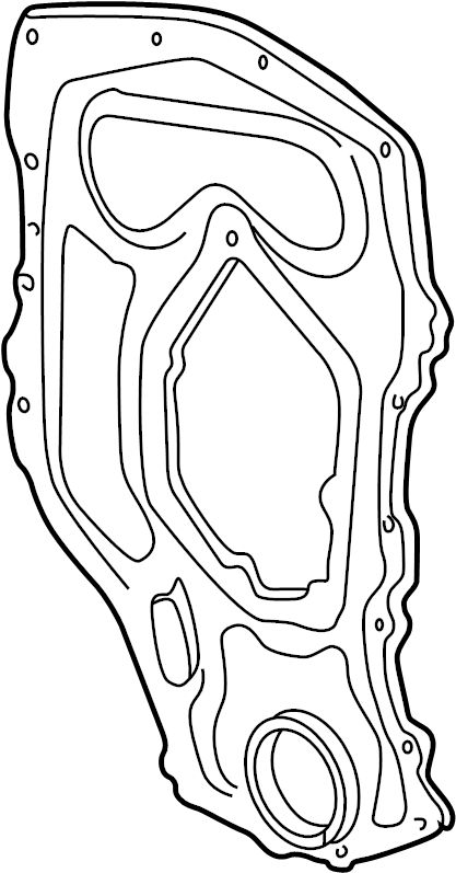 Pontiac Grand Am Engine Timing Cover (Front). 2.4 LITER