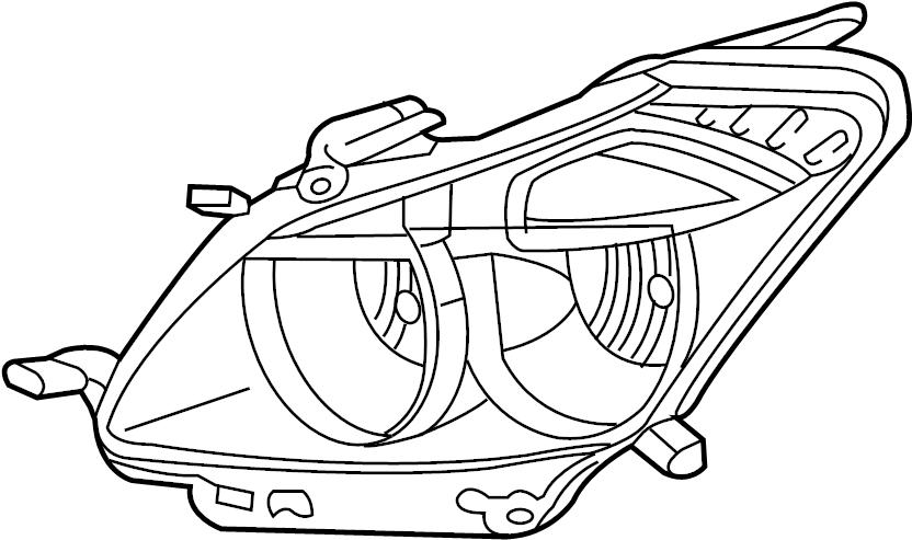 Pontiac Vibe Headlight. Vibe; Right. FRONT, HEADLAMP
