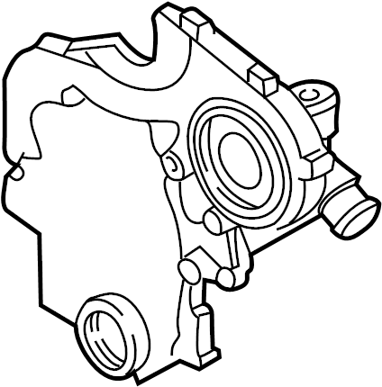 Pontiac Aztek Engine Timing Cover. LITER, CYLINDER