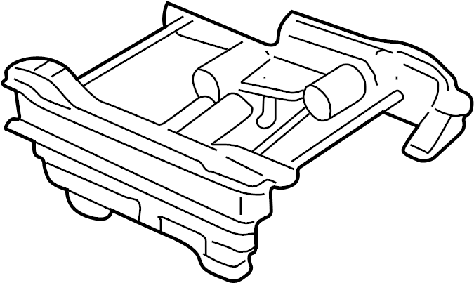Pontiac Trans Sport Seat Track. 1997-00, PASSENGER SEAT