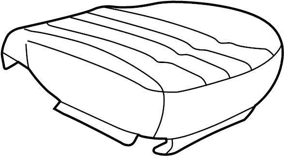 Pontiac Montana Seat Cover. Neutral, Leather, PASSENGER
