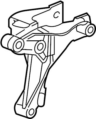 Pontiac G5 Manual Transmission Mount Bracket. LITER, SEDAN