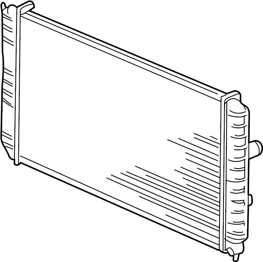 Oldsmobile Alero Radiator. Cooling, Trans, Manual